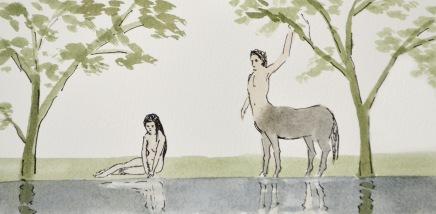 cintaur and nymph